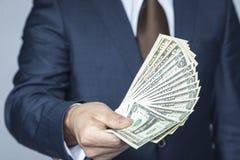 Heel wat contant geld voor gelukkig stock foto's