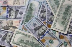 Heel wat contant geldamerikaanse dollars Stock Afbeelding