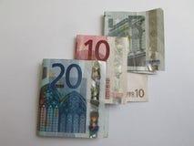 Heel wat Europees Geld Royalty-vrije Stock Fotografie