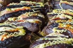 Heel wat gebakken een aubergine Royalty-vrije Stock Fotografie