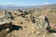 Heel wat grote stenen in Zorats Karer Royalty-vrije Stock Foto's