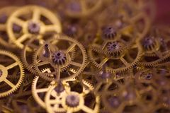 Heel wat kleine tandwielen Royalty-vrije Stock Foto
