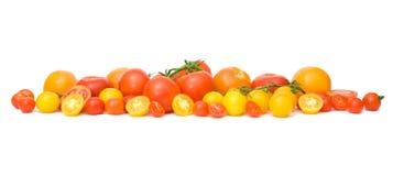 Heel wat kleurrijke tomaten Royalty-vrije Stock Afbeelding