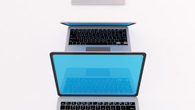 Heel wat laptops op een rij 4K stock illustratie