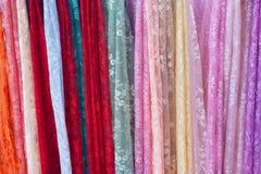 Heel wat multi-colored lacework Stock Afbeeldingen