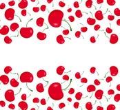 Heel wat rode kersen vector illustratie