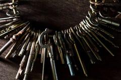 Heel wat uitstekende sleutels royalty-vrije stock afbeeldingen