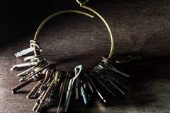 Heel wat uitstekende sleutels stock afbeeldingen