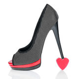 Heel is worth at the symbolic heart Stock Photo