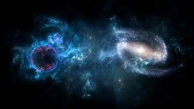 Heelal al bestaande kwestie en de ruimte beschouwd als geheel als de kosmos royalty-vrije illustratie