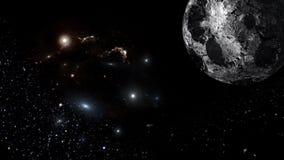 Heelal al bestaande kwestie en de ruimte beschouwd als geheel als de kosmos stock illustratie