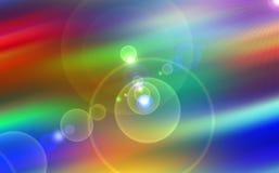 Heelal, levendige sterren, stralen, lichten, energie, kleurrijke achtergrond vector illustratie