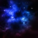 Heelal met sterren, nevel en melkweg wordt gevuld die Stock Foto's