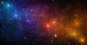 Heelal met sterren, nevel en melkweg wordt gevuld die Elementen van dit royalty-vrije stock afbeelding