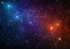 Heelal met sterren, nevel en melkweg wordt gevuld die Elementen van dit stock illustratie