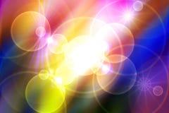 Heelal, sterren, stralen, lichten, energie, kleurrijke achtergrond royalty-vrije illustratie