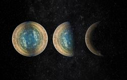 Heelalscène met planeten, sterren en melkwegen in kosmische ruimte e royalty-vrije stock fotografie