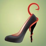 heeled hög sko Arkivbild