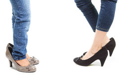 Heeled shoes Stock Photos