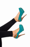 Heels in the air Royalty Free Stock Photos