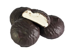 Heemst in chocolade en half royalty-vrije stock afbeeldingen