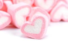 Heemst op witte achtergrond, Roze liefjeheemst  stock afbeeldingen