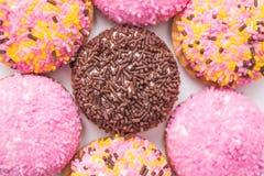 Heemstkoekjes met Sugar Sprinkles Royalty-vrije Stock Afbeeldingen