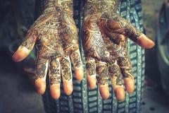 Heena is on both hands - vintage style Stock Image