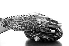 Heena hand and clutch Royalty Free Stock Images