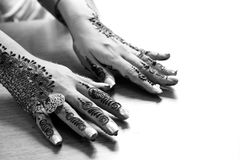Heena hands Stock Images