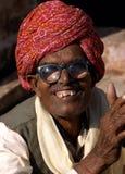 Heer bij de Kameelmarkt, Jaisalmer, India Royalty-vrije Stock Afbeelding