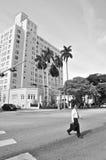 Heer die zijn eigen weg, Sb van Miami (B&W) kiezen royalty-vrije stock foto's