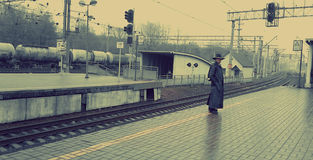 Heer in een hoed Stock Foto's