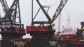 Heerema Hermod in Rotterdam stock video footage