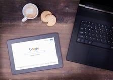 HEERENVEEN, NETHERLANDS - JUNE 6, 2015: Google is an American multinational corporation Stock Image