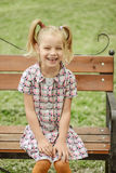 Heerful girl in dress Royalty Free Stock Photos