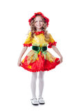 Сheerful little girl posing in carnival costume Royalty Free Stock Photography