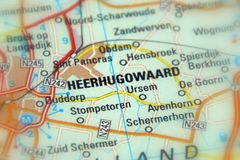 Heerhugowaard, os Países Baixos fotografia de stock