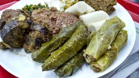 Heerlijk Arabisch voedsel op plaat royalty-vrije stock afbeeldingen