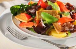 Heerlijk beweeg tofu en groenten stock foto's