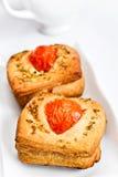 Heerlijk brood met tomaten Stock Foto's