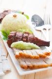 Heerlijk Chinees geroosterd varkensvlees Stock Foto's