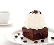 Heerlijk chocoladedessert Stock Foto