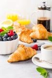 Heerlijk continentaal ontbijt stock foto's