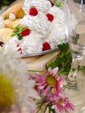 Heerlijk. Dessert. royalty-vrije stock afbeeldingen