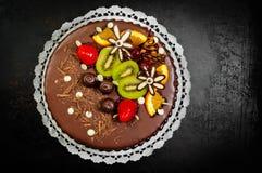 Heerlijk dessert op plaat Stock Fotografie