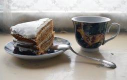 Heerlijk Dessert voor thee stock foto