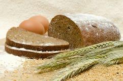 Heerlijk en geurig eigengemaakt brood met oren Stock Afbeeldingen