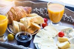 Heerlijk Frans ontbijt royalty-vrije stock foto's