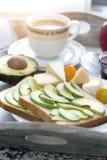 Heerlijk Frans ontbijt stock afbeelding